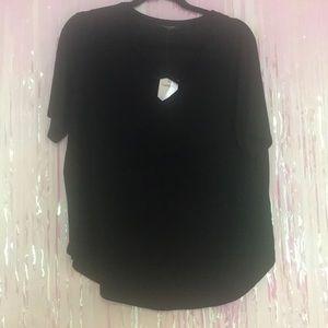 Black Criss Cross T-shirt